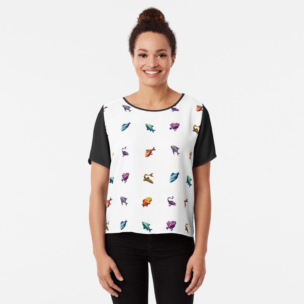 Muchos peces (blanco) Blusa