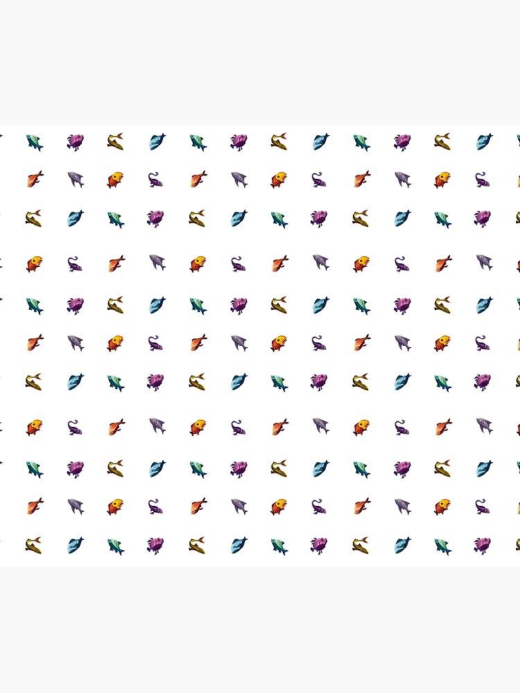 Muchos peces (blanco) de zanrick
