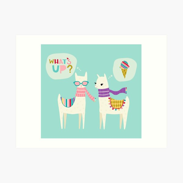 What's Up Llamas Art Print