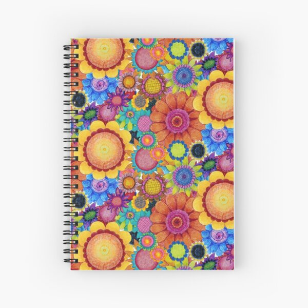 Crayon Garden Spiral Notebook