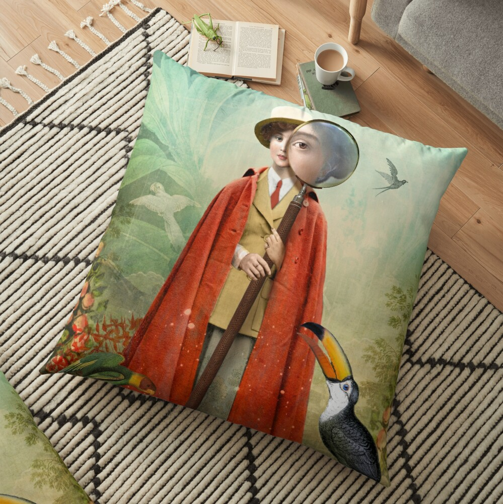 Page of Wands Floor Pillow