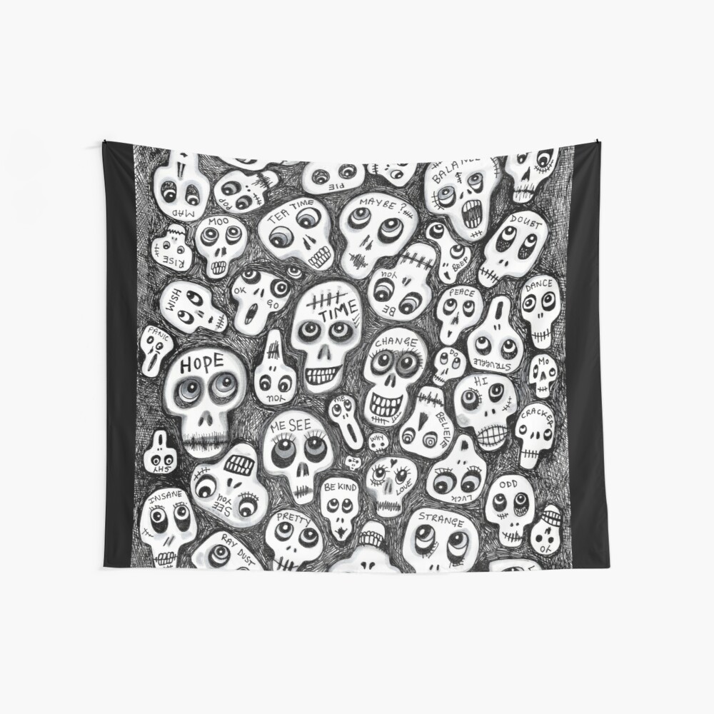 The Skull People Wall Tapestry