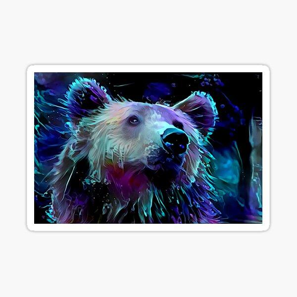 Blacklight Grizzly Bear Sticker