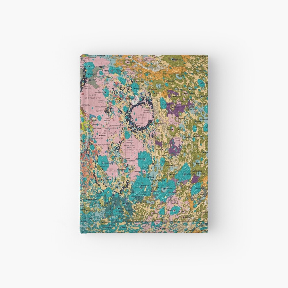 Geology of the Moon Hardcover Journal