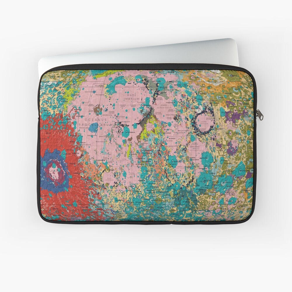 Geology of the Moon Laptop Sleeve