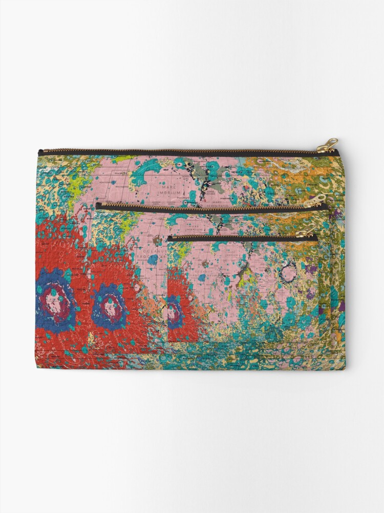 Alternate view of The Geology of the Moon Zipper Pouch