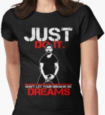 Shia Labeouf Dreams (Black Version) Women's Fitted T-Shirt