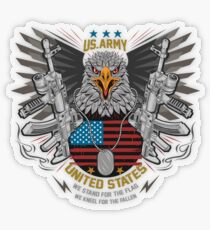 Stand for the Flag Kneel for the Fallen  Transparent Sticker