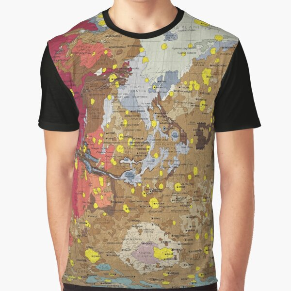 Geology of Mars Graphic T-Shirt