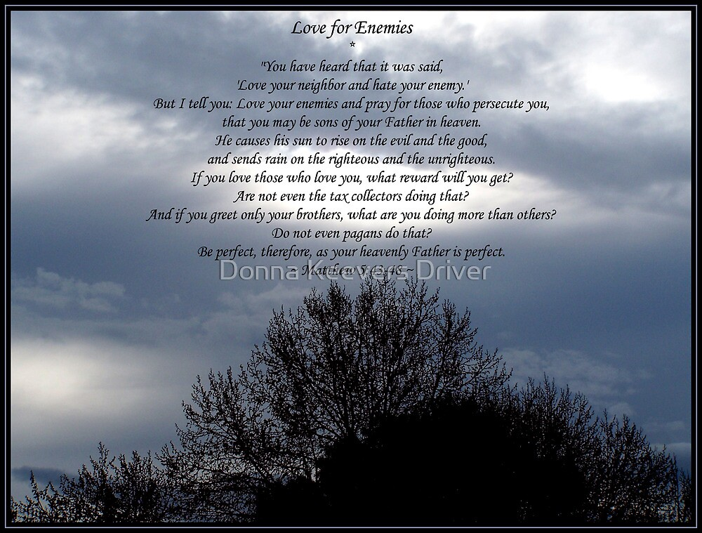 ~ Love Your Enemies ~ by Donna Keevers Driver