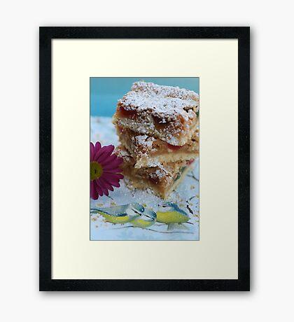Cherry Almond Slice Framed Print