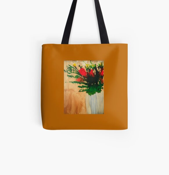"""""""Flowers in a Vase"""" Original by Tony DuPuis All Over Print Tote Bag"""