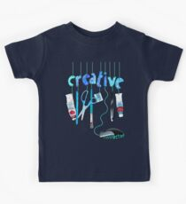Connected Creative in Blue Kids Tee