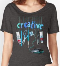 Connected Creative in Blue Women's Relaxed Fit T-Shirt