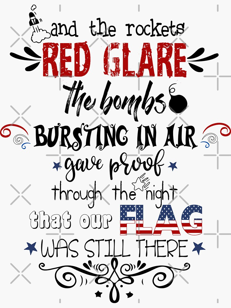 Patriotic National Anthem Doodles by IconicTee