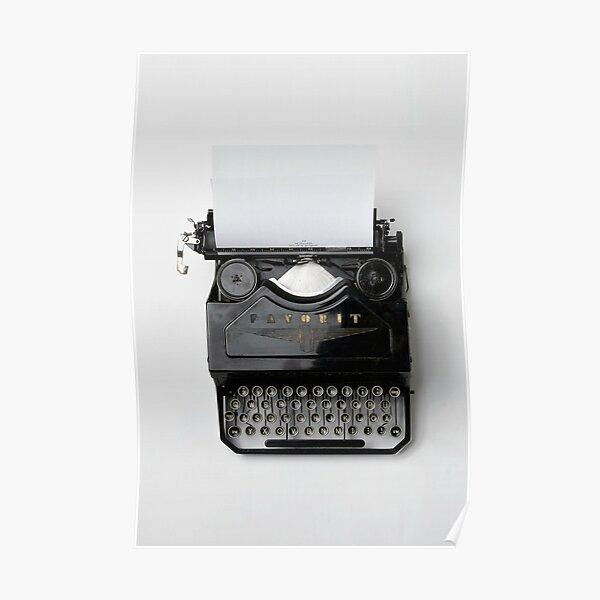 Máquina de escribir - regalo para escritores Póster