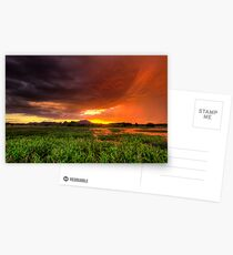 Red Sky At Night Postcards