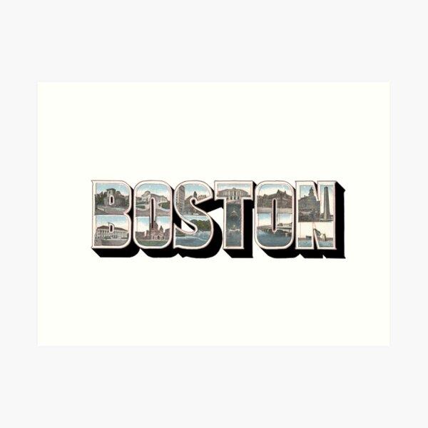 Boston Vintage Big Letter Art Print