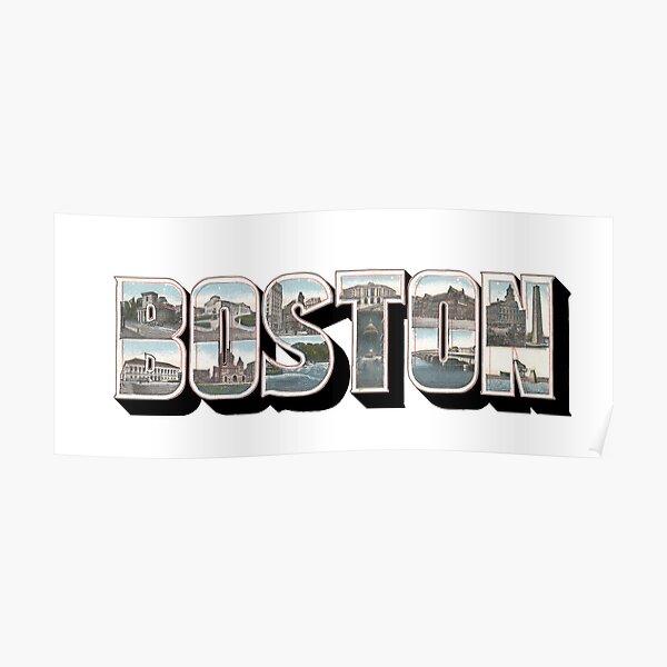 Boston Vintage Big Letter Poster