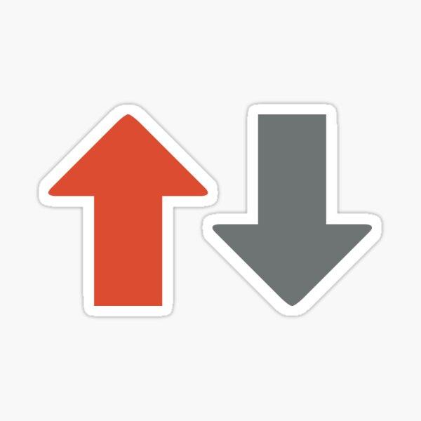 Upvote internet sign Sticker