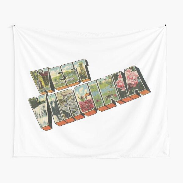 West Virginia Vintage Big Letter Tapestry
