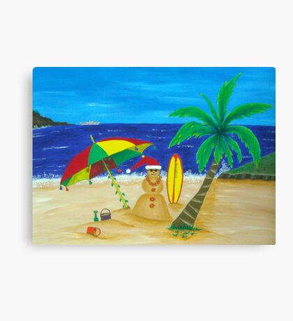 Christmas in Kona Canvas Print