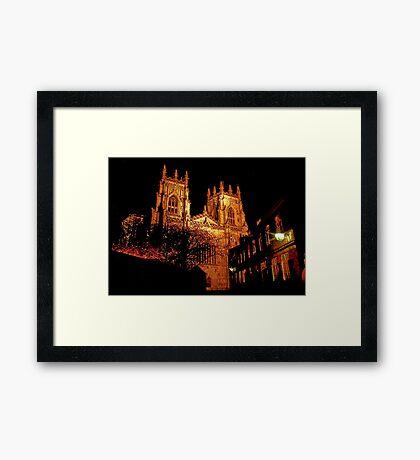 York Minster by Light Framed Print