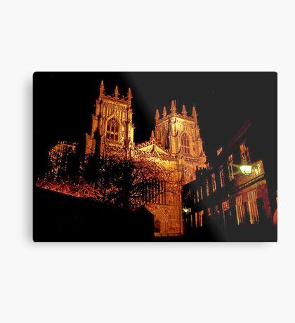 York Minster by Light Metal Print