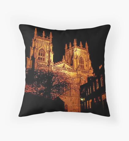 York Minster by Light Throw Pillow