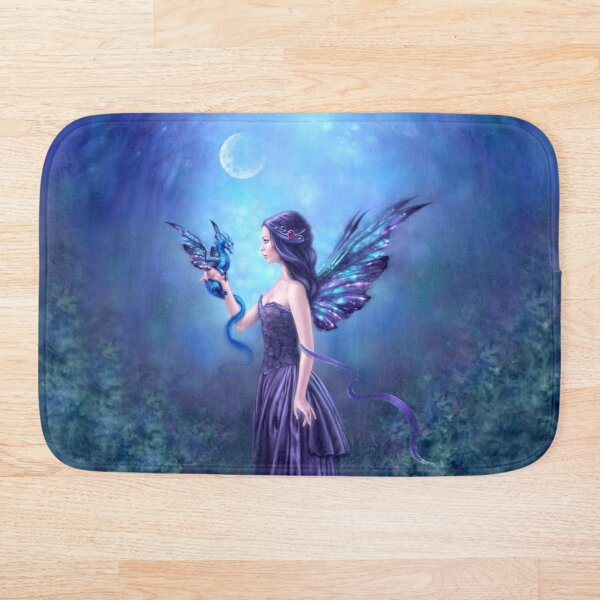 Iridescent Fairy & Dragon Bath Mat