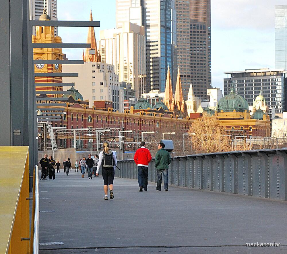 Yarra River Pedestrians by mackasenior