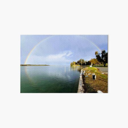 Lake Mallacoota, Rainbow over the Mouth  Art Board Print
