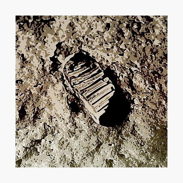Apollo 11 First Lunar Footprint Photographic Print