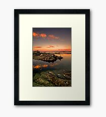 Sunset roost Framed Print
