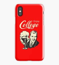Retro Humor - Enjoy Your College Life iPhone Case/Skin