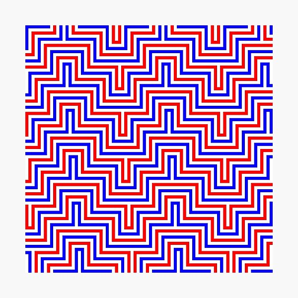 Op art - art movement, short for optical art, is a style of visual art that uses optical illusions Photographic Print