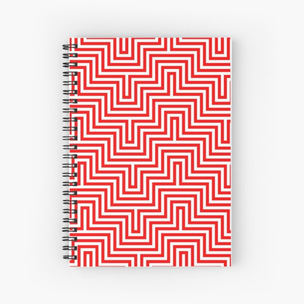 Op art - art movement, short for optical art, is a style of visual art that uses optical illusions Spiral Notebook