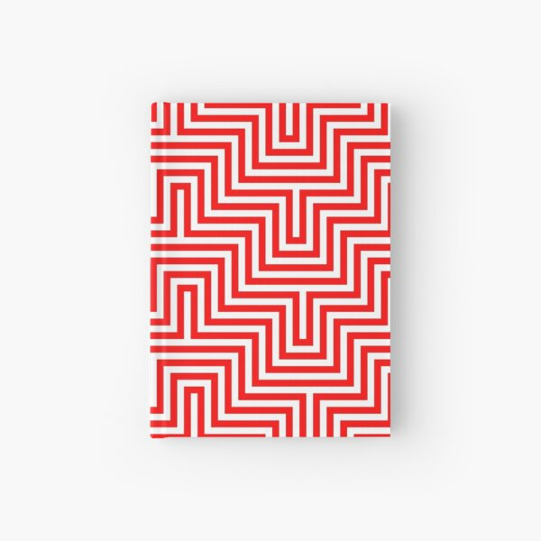 Op art - art movement, short for optical art, is a style of visual art that uses optical illusions Hardcover Journal