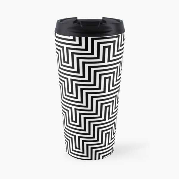 Op art - art movement, short for optical art, is a style of visual art that uses optical illusions Travel Mug