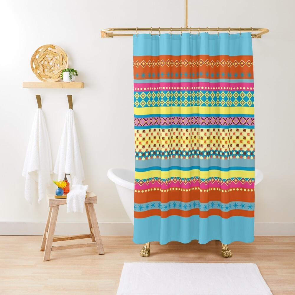 Bohemian  Sherbet Shower Curtain