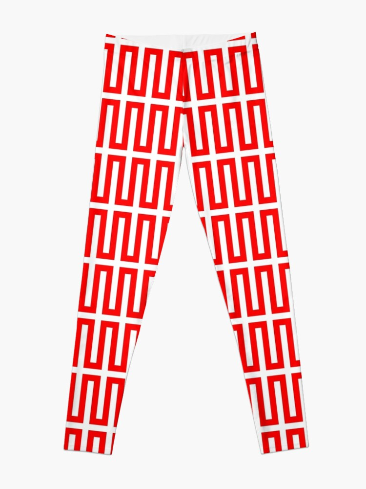 Alternate view of Op art - art movement, short for optical art, is a style of visual art that uses optical illusions Leggings