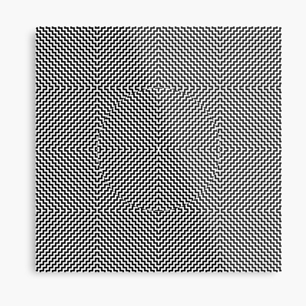 Op art - art movement, short for optical art, is a style of visual art that uses optical illusions Metal Print
