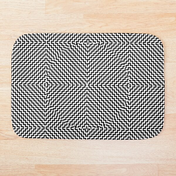 Op art - art movement, short for optical art, is a style of visual art that uses optical illusions Bath Mat