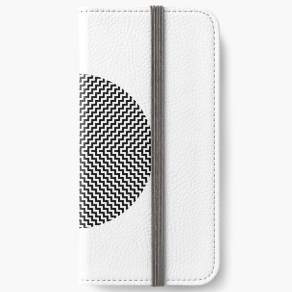 Op art - art movement, short for optical art, is a style of visual art that uses optical illusions iPhone Wallet