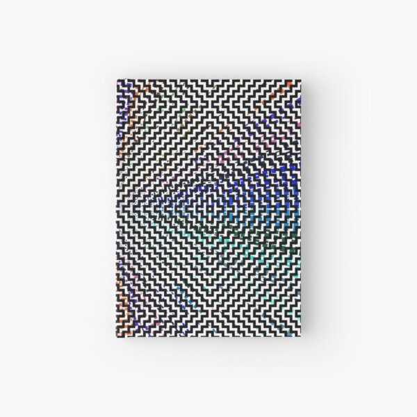#Woven #Fabric #Parallel #Geometry Pattern Art Decoration Ornate Tapestry Colorfulness Hardcover Journal