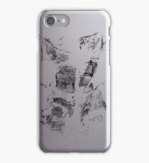 Poumons de Soie #1 -  Silk lungs - Monotype Empreinte iPhone Case/Skin