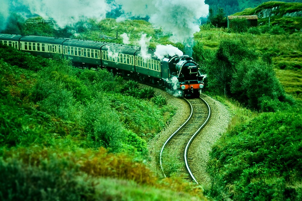 The Steam train from Fort William to Mallaig, Scotland by Geoff Spivey