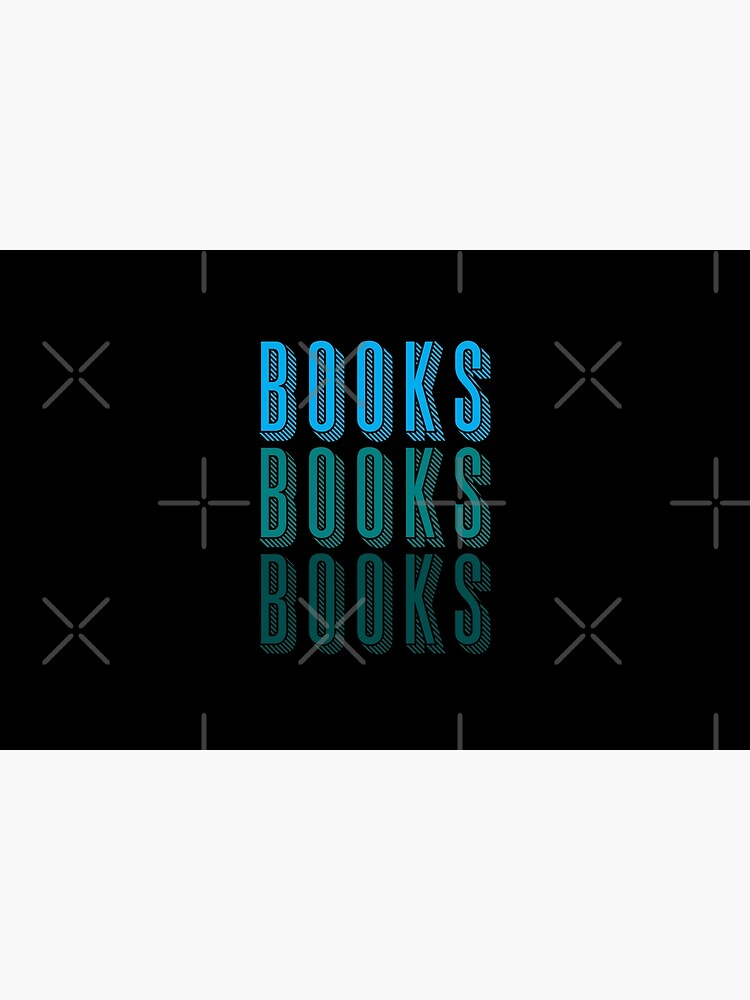 BOOKS BOOKS BOOKS in blue by jazzydevil