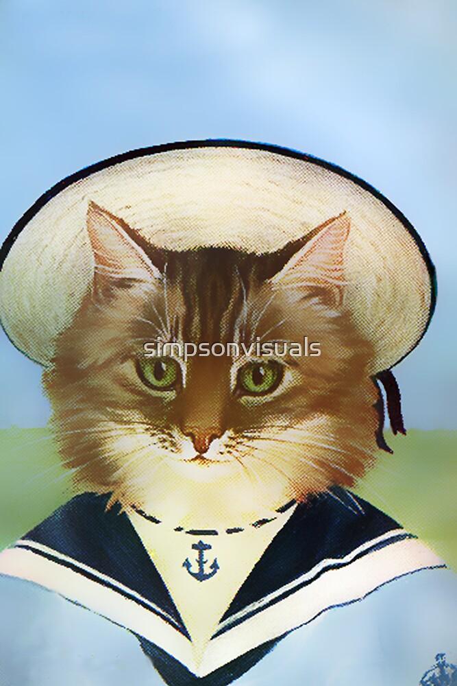 Vintage Sailor Cat by simpsonvisuals