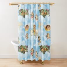 clouds angel cherubs Shower Curtain